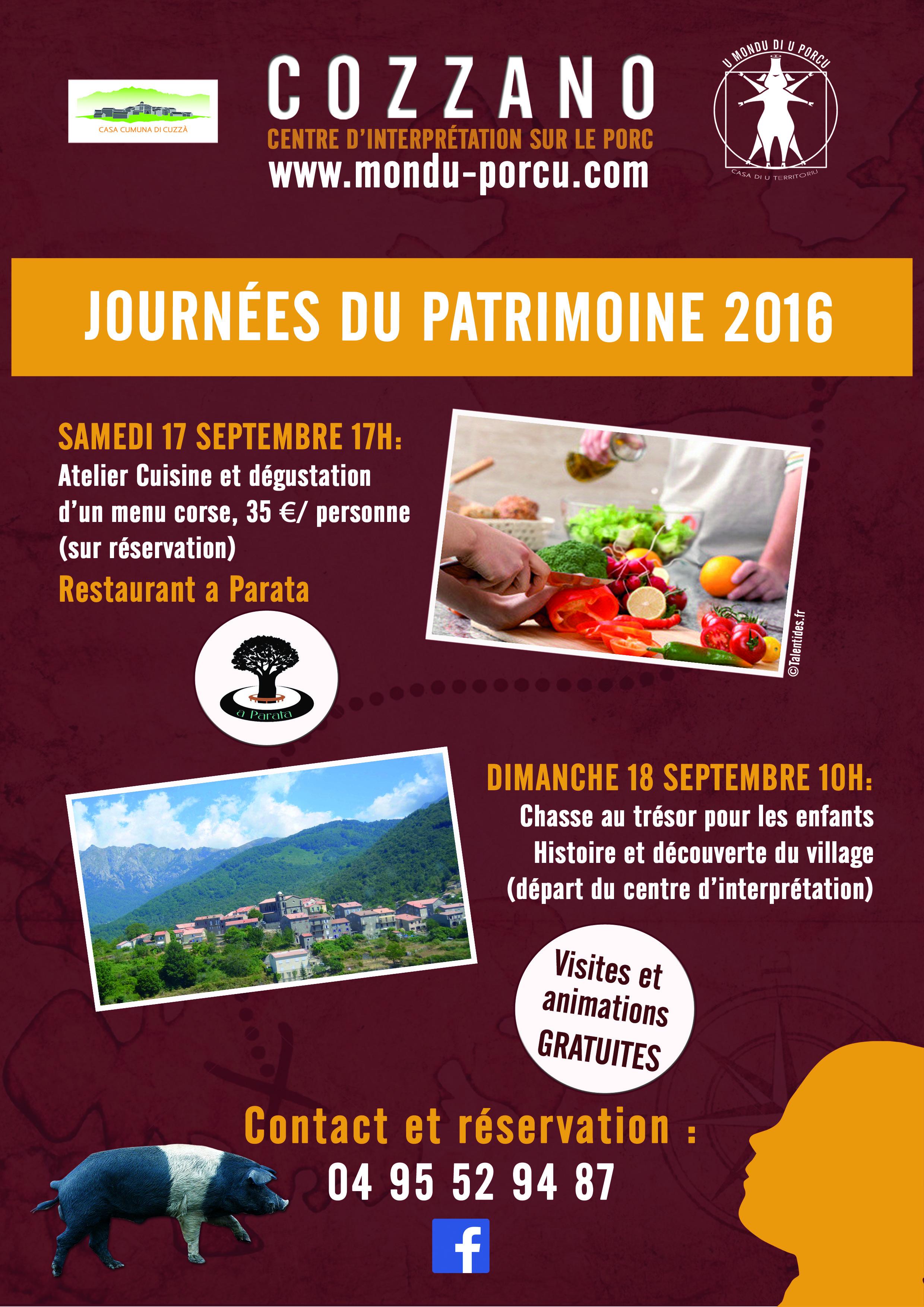 Programme des Journées du Patrimoine 2016