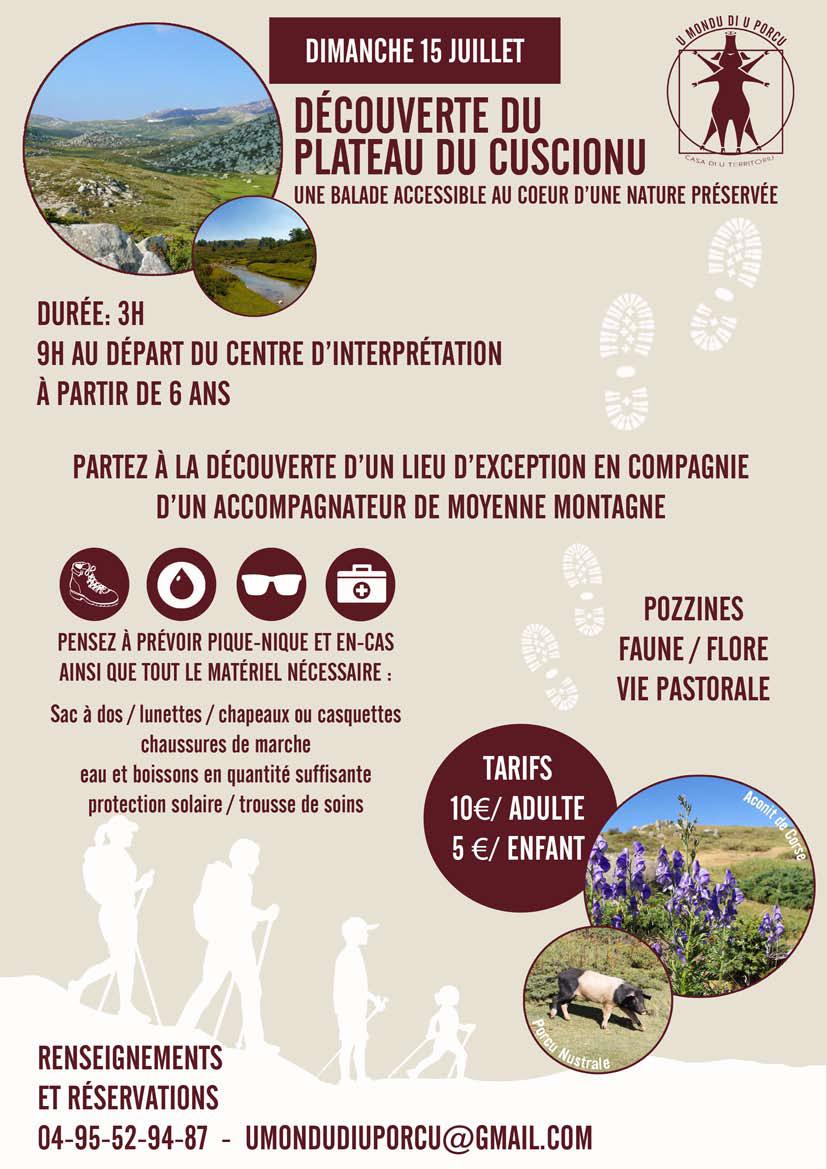 Partez à la découverte du plateau du Cuscionu