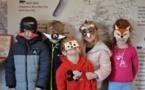 Etude de la faune locale grâce aux masques de carnaval au centre d'interprétation
